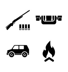 safari hunting simple related icons vector image