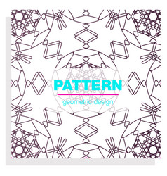 Seamless linear pattern with thin poly lines and vector