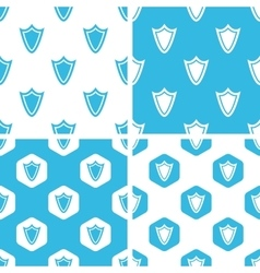 Shield patterns set vector