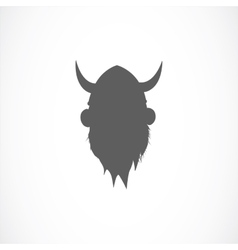 Silhouette of viking avatar vector