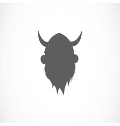silhouette viking avatar vector image