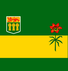 simple flag province of canada vector image