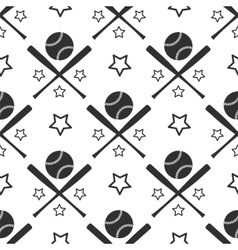 Sport seamless pattern baseball vector