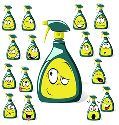 spray bottle cartoon vector image