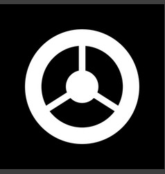 steering wheel it is icon vector image