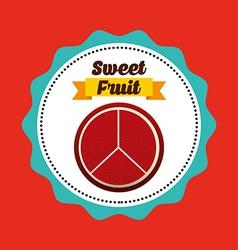 sweet fruits vector image