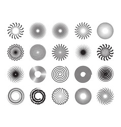 swirls shapes scrolls circle forms spirals and vector image