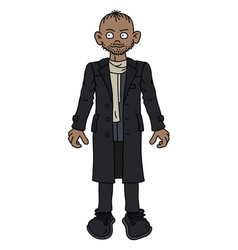 The funny man in a long coat vector