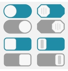 Toggle switch on off button vector image