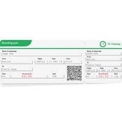 Variant of boarding pass vector image