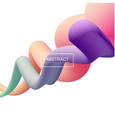 Vibrant gradient shapes vector