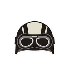 vintage retro goggle glasses helmet motorbike logo vector image