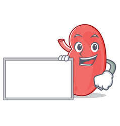 With board kidney character cartoon style vector