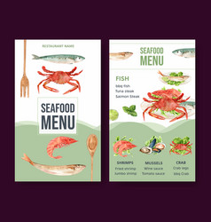 World food day menu design with shrimp clam meat vector