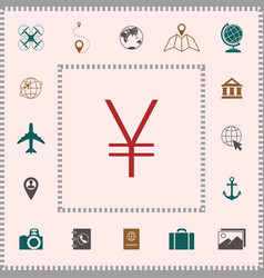 yen symbol icon elements for your design vector image