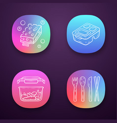 Zero waste swaps handmade app icons set vector