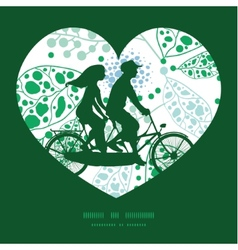 abstract blue and green leaves couple on vector image vector image