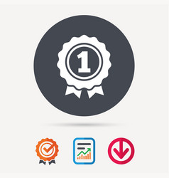 award medal icon winner emblem sign vector image vector image