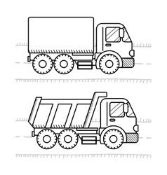 Cars and vehicles coloring book for kids Dump vector image vector image