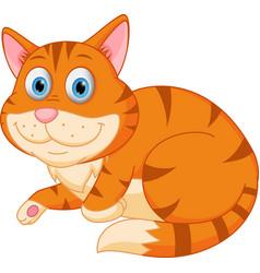 cute cat relaxing vector image vector image