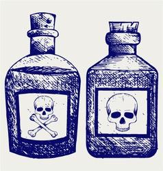 Glass bottles of poison vector image vector image