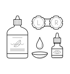 outline contact lens case vector image