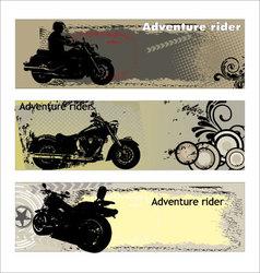 adventure rider vector image vector image