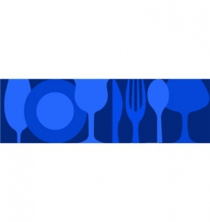 dinning background vector image vector image
