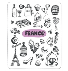 Doodle of France vector image vector image