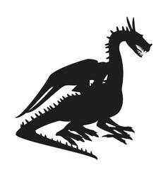 dragon mythical creature fantasy beast animal vector image