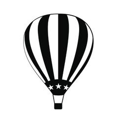 Hot air balloon with USA flag icon vector image