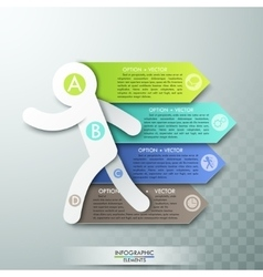 Modern infographics options template With Running vector image