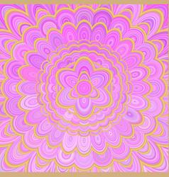 pink abstract flower mandala background - digital vector image vector image