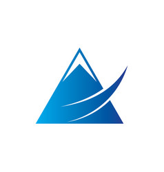 triangle arrow business logo vector image vector image