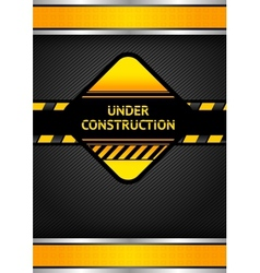 under construction black corduroy background vector image vector image