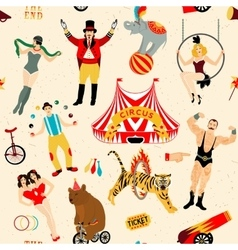Circus set of circus stars vector image vector image