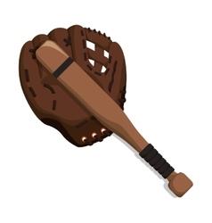 Glove bat baseball sport design vector