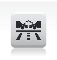 road crash icon vector image