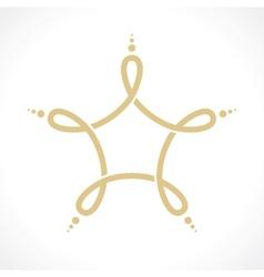 symbol a vector image vector image