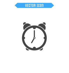 alarm clock icon flat clock icon vector image