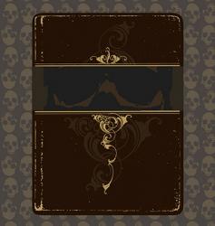 book of skulls vector image vector image