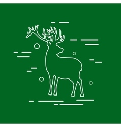 Deer Line Icon vector image vector image
