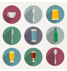 Flat Icons of web and mobile applications utensil vector image vector image