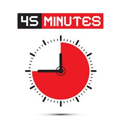 Forty Five Minutes Stop Watch - Clock vector image vector image