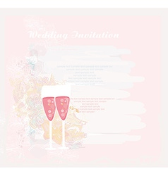 Invitation To wedding with champagne vector image