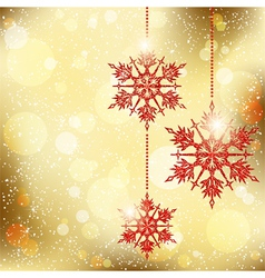 Sparkling Christmas Snowflakes vector image vector image