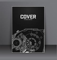 a4 cover design template flyer with technical vector image