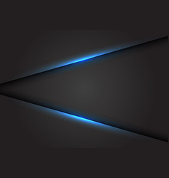 Abstract blue light line on dark grey background vector