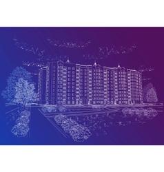Architectural urban background vector