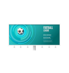 billboard for football championship stylish vector image